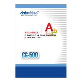 Datavideo CG-500 HD/SD Graphics & Character Generator