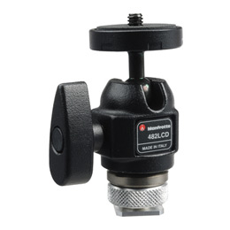 Manfrotto 482LCD Micro Ball Head with Hot Shoe Mount - more info