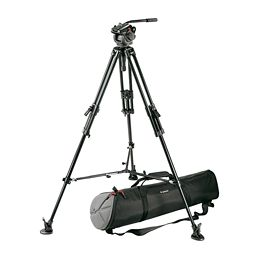 Manfrotto 503HDV, 351MVB2K Video Tripod System with Fluid Head - larger image